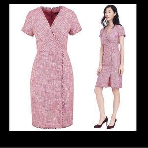 Banana Republic pink tweed dress size 8